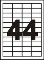 Самоклеящаяся бумага Sapro,  70 г/м2, белая, A4/44шт. на лист (48.3x25.4), 100 л
