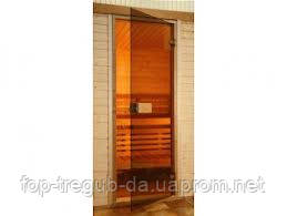 Стеклянные двери для сауны 70х190 бронза (Украина)