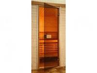 Стеклянные двери для сауны 80х190 бронза (Украина)