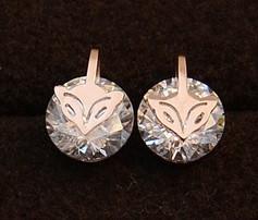 Серьги CARTIER ювелирная бижутерия золото 14К декор кристаллы Swarovski