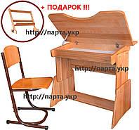 Парта и стул растущие с 1 по 11 класс (ясень), фото 1