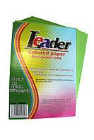 Бумага цветная A4/80 (100л.) интенсивный зеленый Leader