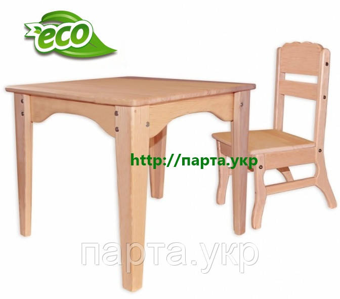 Стол и стул из дерева БУК