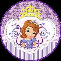 Принцесса София 12 Вафельная картинка