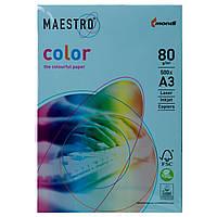 Цветная бумага Maestro А3 г/м² 80 пастель синий
