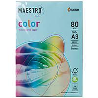 Цветная бумага Maestro А3 г/м² 80 пастель голубой