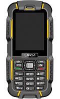 Защищенный Мобильный телефон Sigma X-treme DZ67 Travel yellow-black Гарантия 12 месяцев.