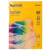 Цветная бумага Maestro А3 г/м² 80 интенсив темно - желтый
