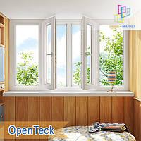 """Лоджия 3000х1450 Openteck Киев недорого """"Окна Маркет"""""""