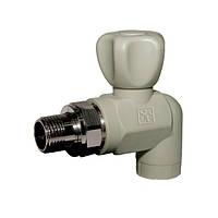 Кран  PP-R 20 х 1/2  с НГ для радиатора (угловой)