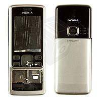 Корпус для Nokia 6300, серебристый, оригинал