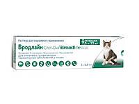 Бродлайн Спот-он от блох, клещей и гельминтов для кошек 2.5 - 7.5 кг., Merial , фото 1
