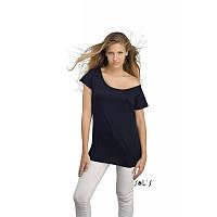 Женская удлинённая футболка-кимоно, короткие рукава SOL'S MARYLIN, белая, чёрная, фото 1