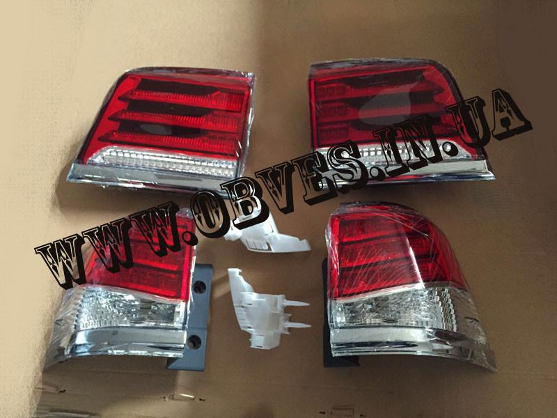 Задні діодні ліхтарі Lexus LX 570 (червоні, рестайлінг)