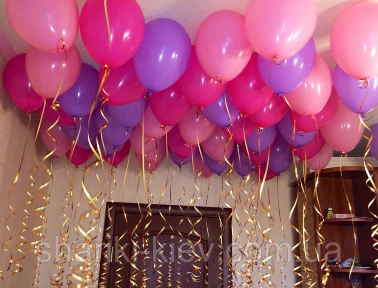 Шарики гелиевые разноцветные 27 см. на День рождения