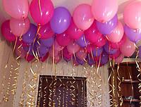 Шарики гелевые латексные разноцветные 27 см. на День рождения