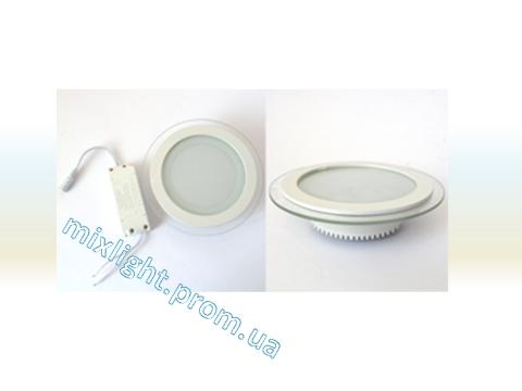 Светодиодный светильник круг 6W Glass 4000K