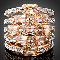 Кольцо женское с кристаллами Swarovski