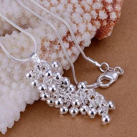 """Кулон жіночий стильний """"Гроно"""" покриття стерлінгове срібло, фото 2"""