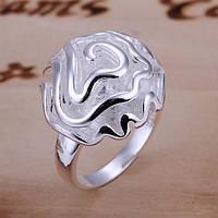"""Кольцо женское серебряная роза """"Нежный цветок"""" покрытие стерлинговое серебро 925 проба"""