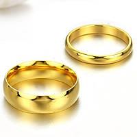 Парные кольца для двоих Венчальные кольца обручальные мед сталь позолота