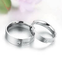 """Парные кольца для двоих """"Хранители Гармонии"""" мед сталь цирконий"""