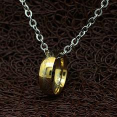 Колье кольцо Всевластия из фильма Властелин колец позолота 18K Gold Plated