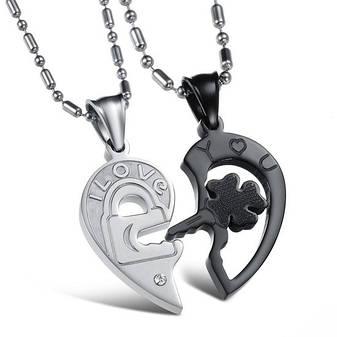 80e85dc3a1a5 Колье для влюбленных в форме сердца