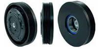 Шкив компрессора кондиционера в сборе Denso 7SEU17C 110mm/4pk (BMW)