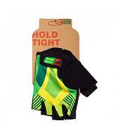 Перчатки Green Cycle NC-2535-2015 Light без пальцев M зелено-желтые