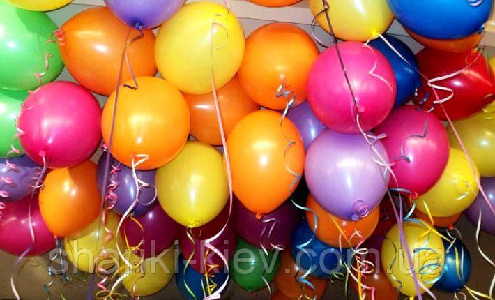Шарики гелевые латексные разноцветные 33 см. на День рождения , фото 2