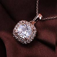 """Колье """"Арамис X"""" стильный классный женский кулон на цепочке позолота кристаллы Сваровски"""