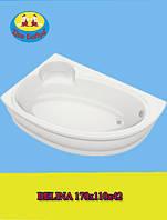 Ванна bliss акриловая асимметричная Belina  170х110x42(левая и правая)