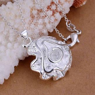 Кулон женский Нежный цветок покрытие серебро, фото 2