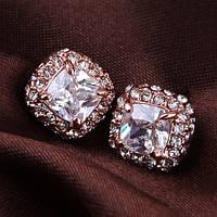 Очень красивые сережки качественная позолота кристаллы Сваровски