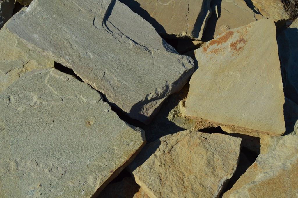Песчаник желтый плоский, фото 1