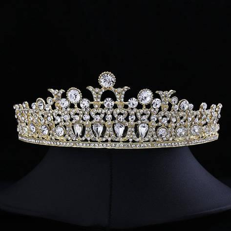 """Діадема (корона) нареченої """"Мозаїка"""" весільні прикраси, фото 2"""