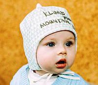 Шапка для мальчика 3-6 месяцев. Модель Хилл. Размер 42 a052b0aa59dbc