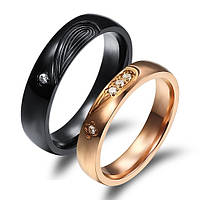 """Кольца для влюбленных """"Хранители Света"""" для пары, для двоих позолота"""
