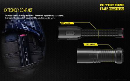 Фонарь Nitecore EA45S (Cree XP-L HI V3, 1000 люмен, 8 режимов, 4xAA), фото 2