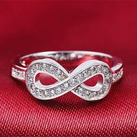 """Кольцо женское из серебра """"Infinity Small"""" с цирконием"""