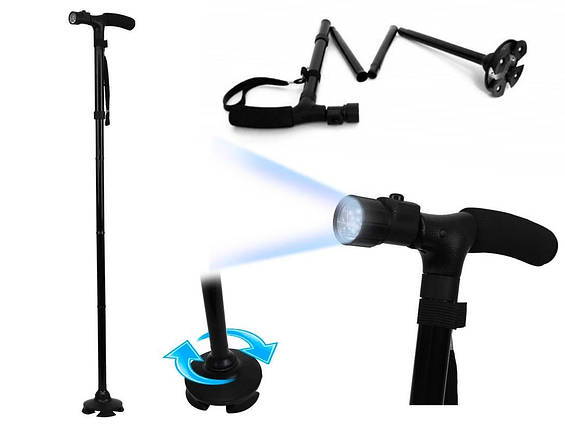 Трость с подсветкой,телескопическая трость Trusty Cane, фото 2