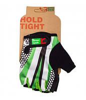 Перчатки Green Cycle NC-2540-2015 Light без пальцев S бело-зеленые