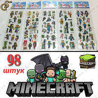 "Наклейки из Майнкрафт - ""Stickers Box"" - 98 шт."