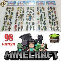 """Наклейки из Майнкрафт - """"Stickers Box"""" - 98 шт., фото 1"""