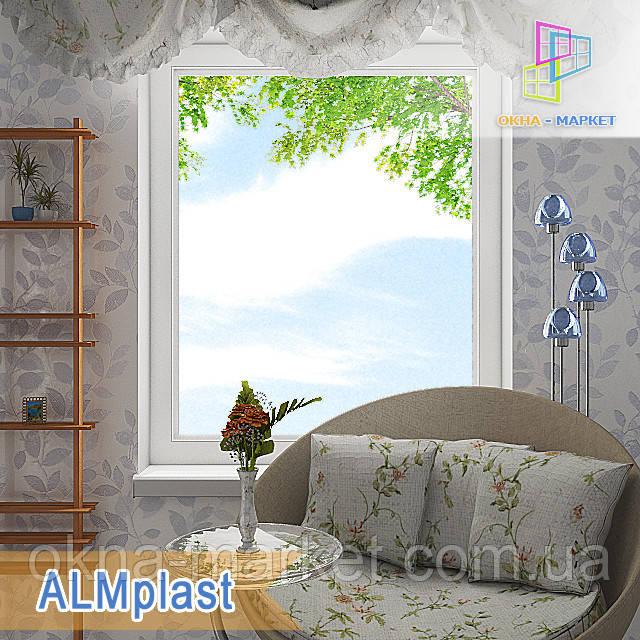 """Одностворчатое глухое окно ALMplast 800x1400 """"Окна Маркет"""""""