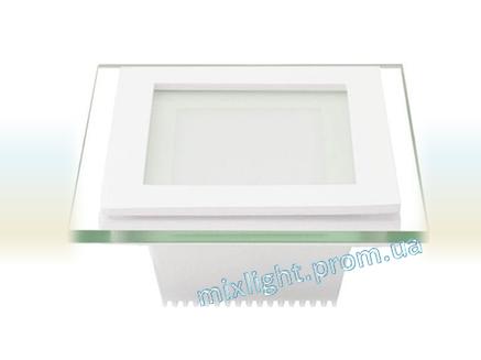 Светодиодный светильник квадрат 18W Glass Rim Metal 4000K, фото 2