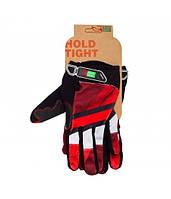 Перчатки Green Cycle NC-2566-2015 MTB с закрытыми пальцами S красно-белые