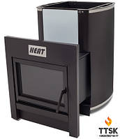"""Печь каменка """"Heat"""" 15 с выносом для бань и саун без стекла"""