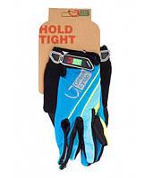 Перчатки Green Cycle NC-2572-2015 MTB с закрытыми пальцами L синие
